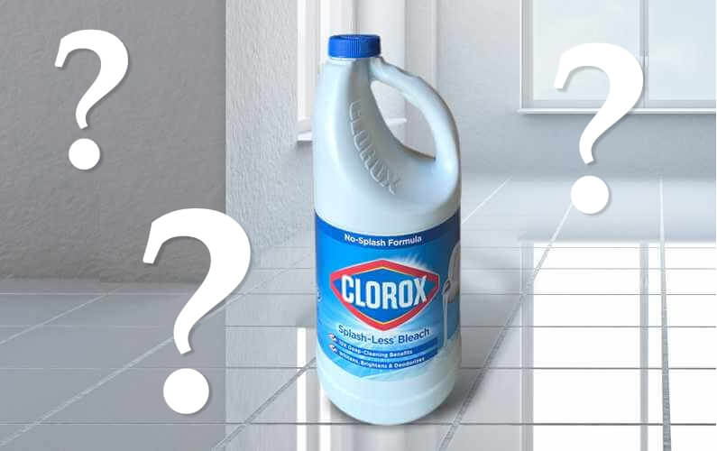 Can I use bleach to remove stains from my grout