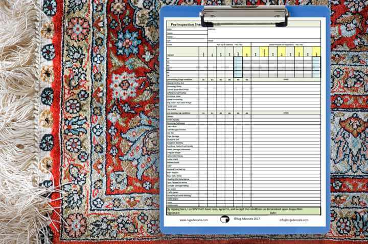 Pre-Inspection Rug and Checklist