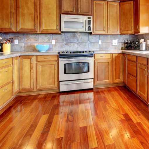 Shiny Hardwood Floors